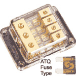 Sterling Power 3x10 in (solid) 4 x fused 6mm out ATQ Fuse Block - GATC-3448