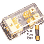 Sterling Power Gold Plated 1x10mm IN 2x6mm AUE Fuse Block. GFB-1428