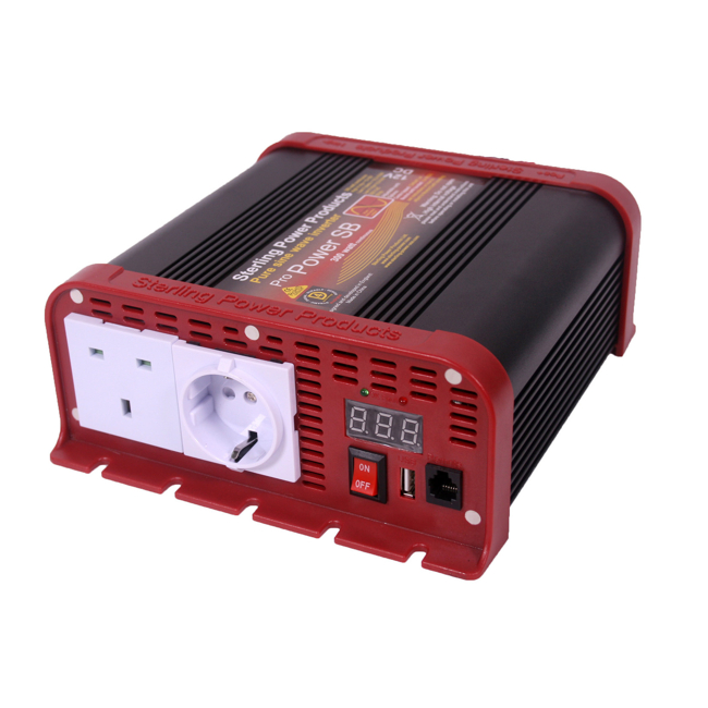 Sterling Power 12v 200W Pure sine w/USB charger with Cig Connector PN: SIB12200