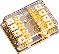 Sterling Power Gold Plated 4x6mm IN 2x6mm AUE Fuse Block. GFB-4848